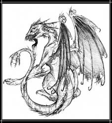 Thorn dragon by WalkingMelonsAAA