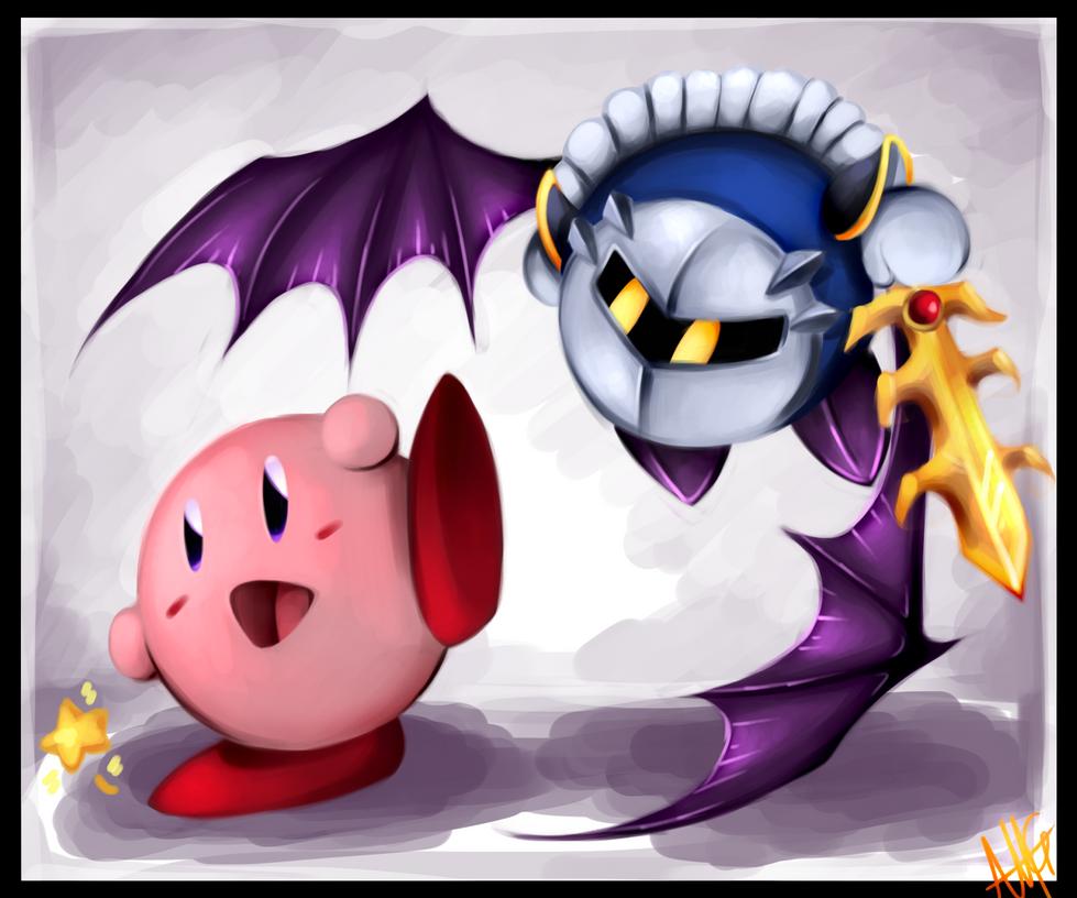 Mini Kirby and Meta Knight by WalkingMelonsAAA on DeviantArt