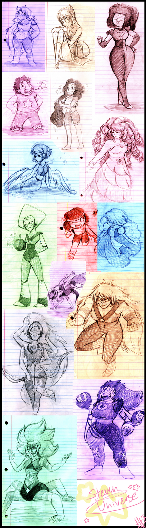 STEVEN UNIVERSE SKETCH DUMP by WalkingMelonsAAA