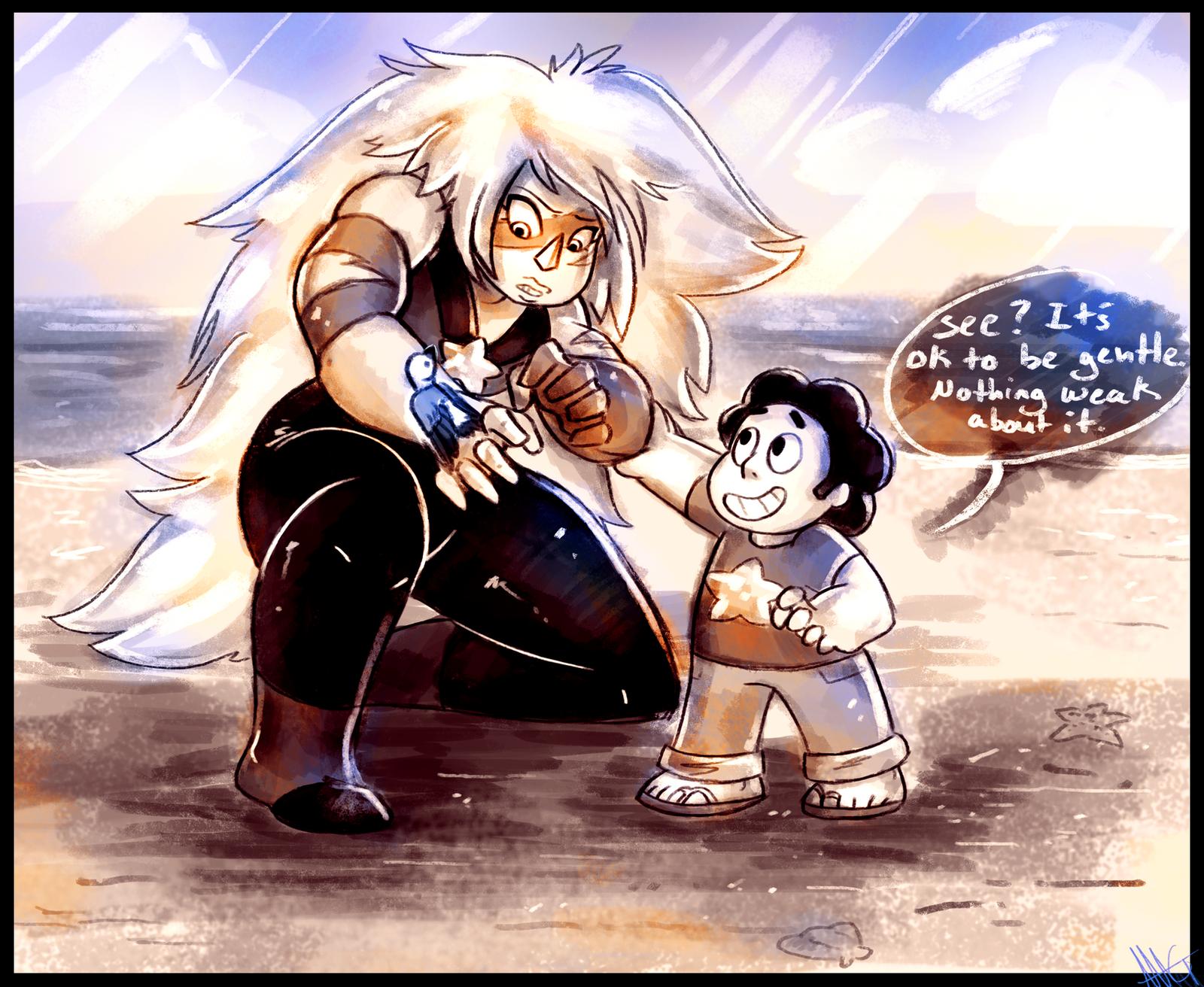 Steven Universe It's ok to be gentle by WalkingMelonsAAA