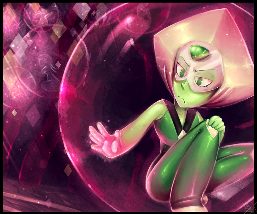 Bubbled - Peridot Steven Universe by WalkingMelonsAAA