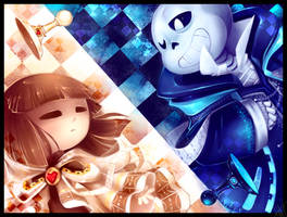 Chesstale - Sans and Frisk - Checkmate Kid by WalkingMelonsAAA