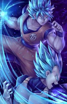 Goku and Vegeta blue!