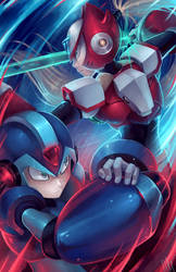 MegaManX and Zero by WalkingMelonsAAA