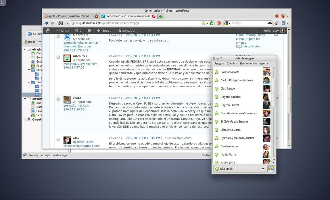 Aplicaciones GTK en KDE