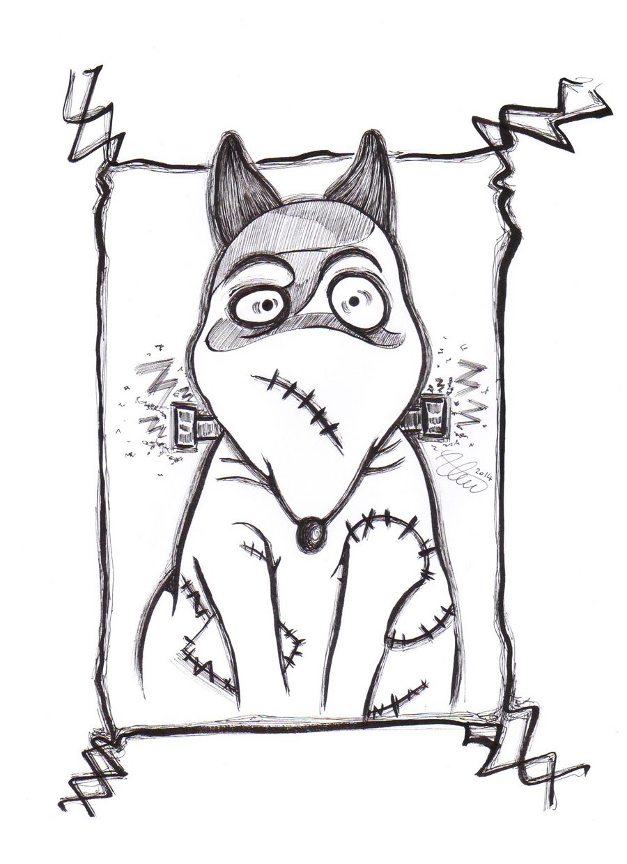 Sparky From Tim Burton S Frankenweenie By Alen1590 On Deviantart