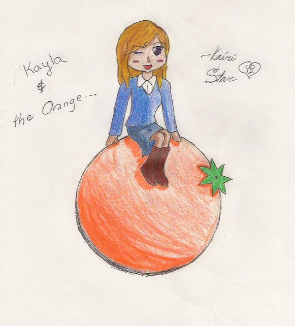 Kayla and the Orange by MayeGirl