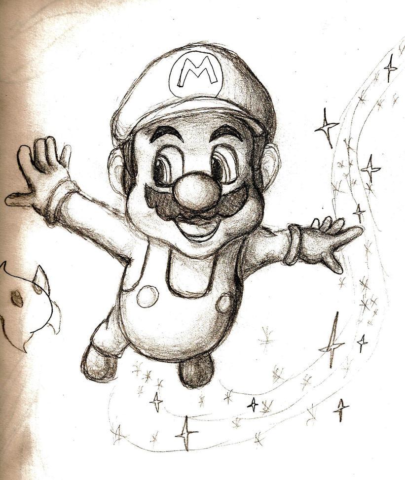 Super Mario Galaxy Sketch By TheClosetFujoshi On DeviantART