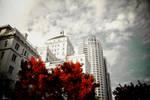 Red City Skyline