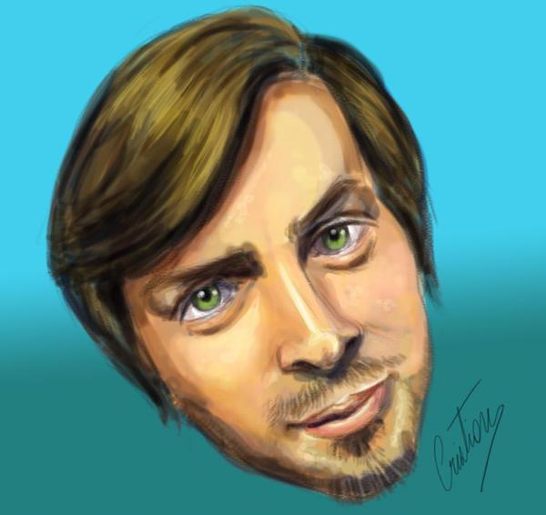 Self portrait caricature by pilouuuu