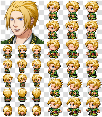 Rpg Maker MV Character Generator Parts Green Cloth by cangyu2004 on