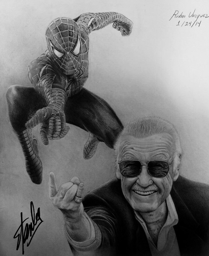 Stan Lee And Spider-Man By Misterio619rv On DeviantArt