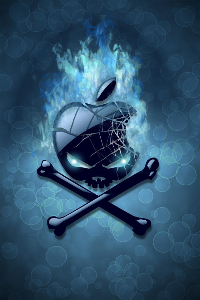 apple pirate flag wallpaper