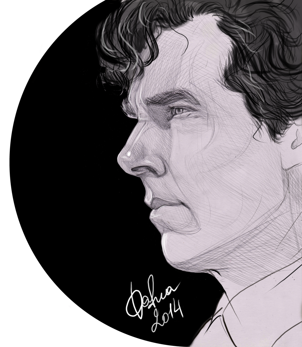 Sherlock sketch by DafnaWinchester