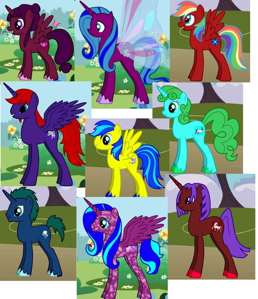 Ponies Adoptables 1 (open) by NayuSiminova