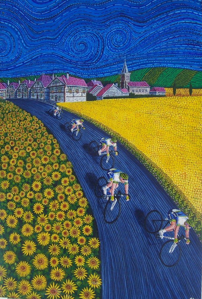French Village With Orica Cycling Team by Zzzzeta