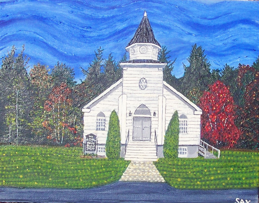 Baptist Church Painting by Zzzzeta