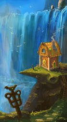 House on a Bird's montain by CaptainKaktus