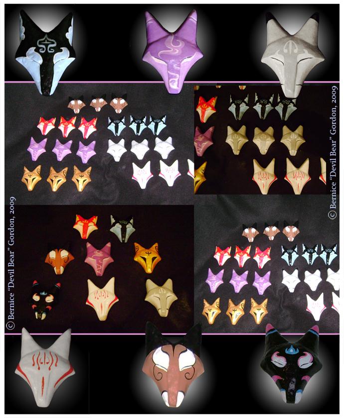 Fox Masks by Gishkishenh