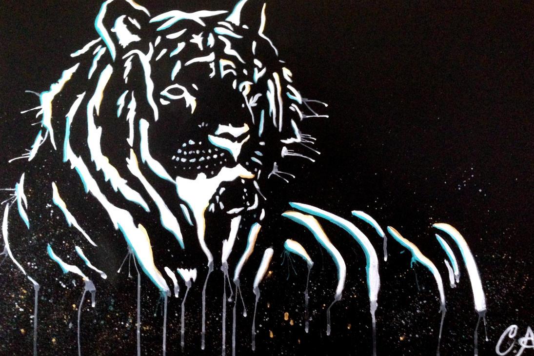 Splatter Tiger (WITH SPEEDPAINT) by GDSCorinne