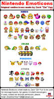 Nintendo Emoticons V.2 by ZinDinTimeYUM