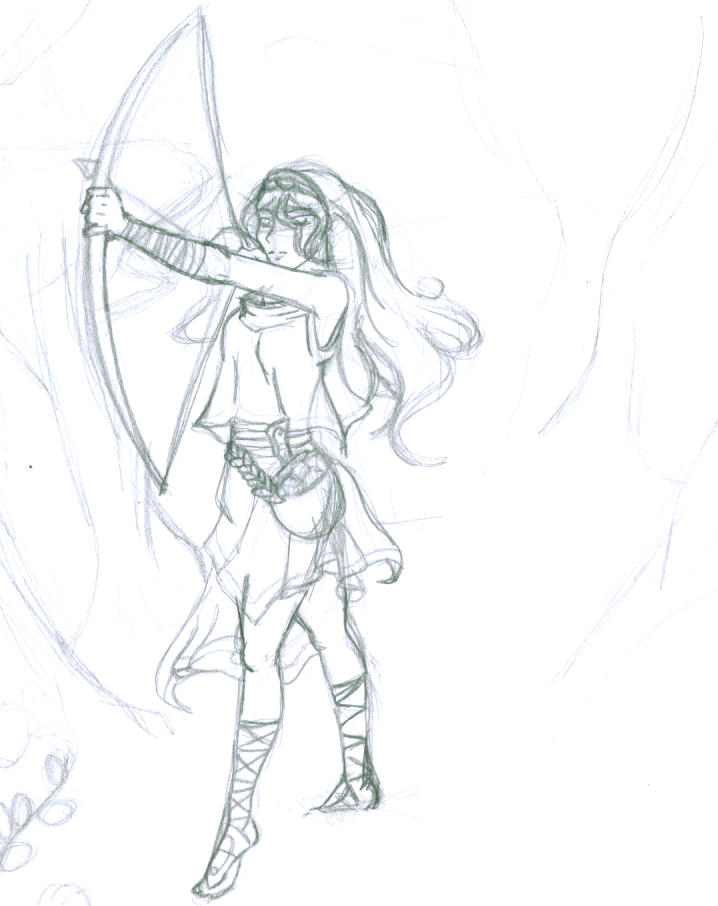 Artemis-pencil by xXxYamixXxYumexXx on DeviantArt