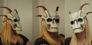Leather Skull with horns 1.1