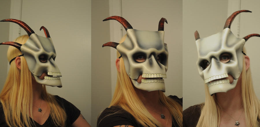 Leather Skull with horns 1.1 by ParkersandQuinn