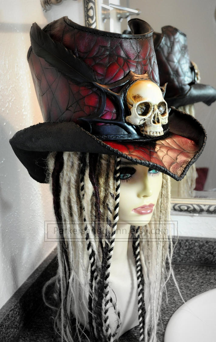 Full Sized Leather Top-hat One Of A Kind. Final. By