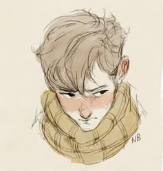 Boy with a scarf