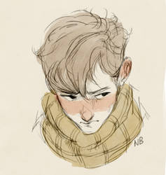 Boy with a scarf