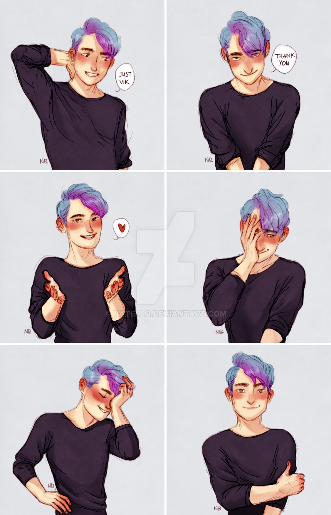 Blue hair (OC) 3 by Natello