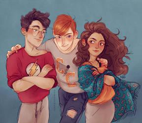 Harry, Hermione, Ron