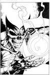 Green Lantern cover inks