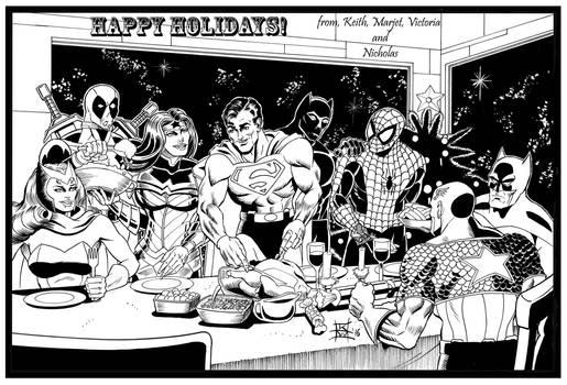 Superhero Christmas card 2016
