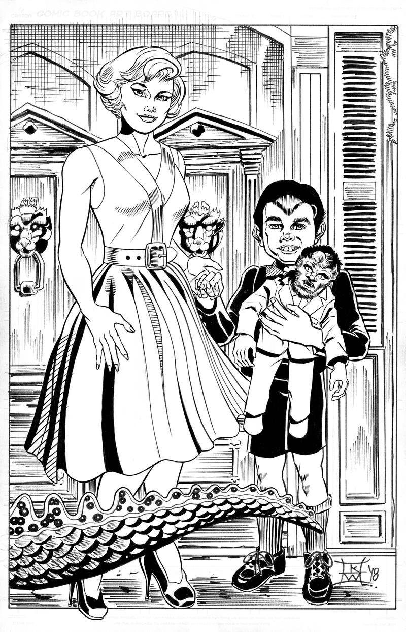 Marilyn And Eddie Munsters And Spot