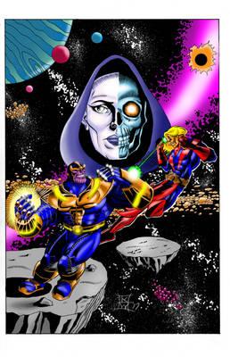 Thanos vs. Warlock color