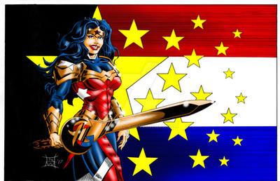 Wonder Woman and Sword PRINT