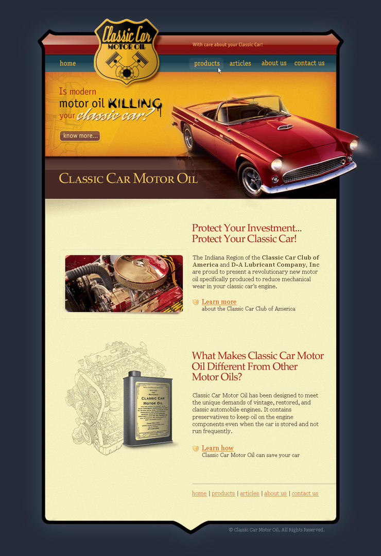 Classic car motor oil by siteograph on deviantart for Motor oil for older cars