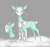 Sylph Deer: Snowy Diamond [Closed] by DanteCries