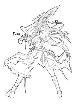 Dawn with Sword