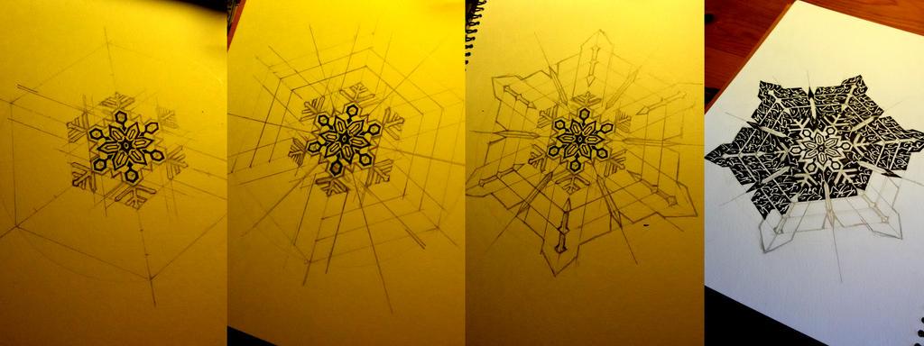Work in Progress: Tribal Snowflake by Midniterain