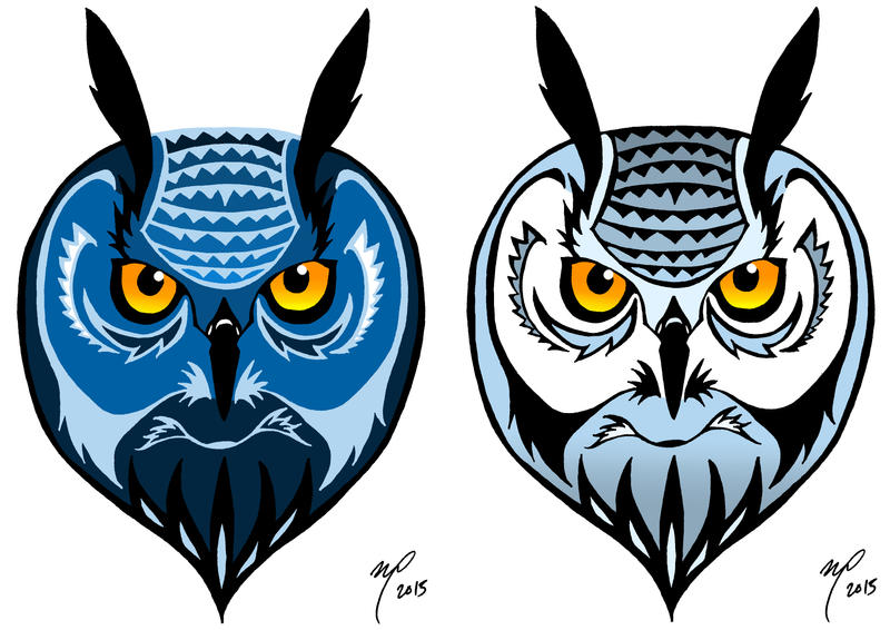 Coloured owl by Midniterain