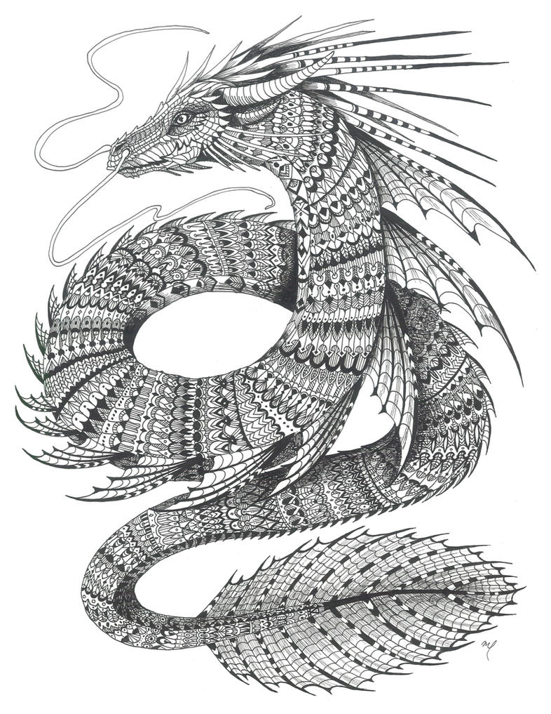 The Sea Serpent by Midniterain