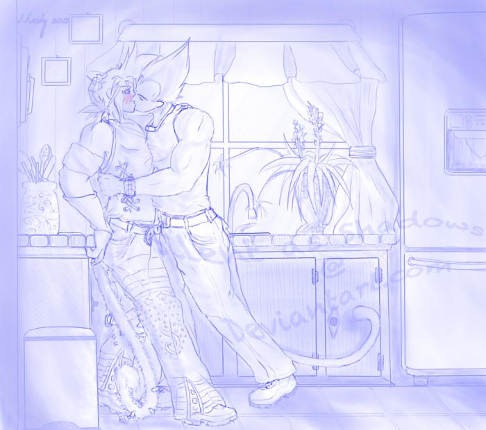 The Kiss by SilentAsShadows