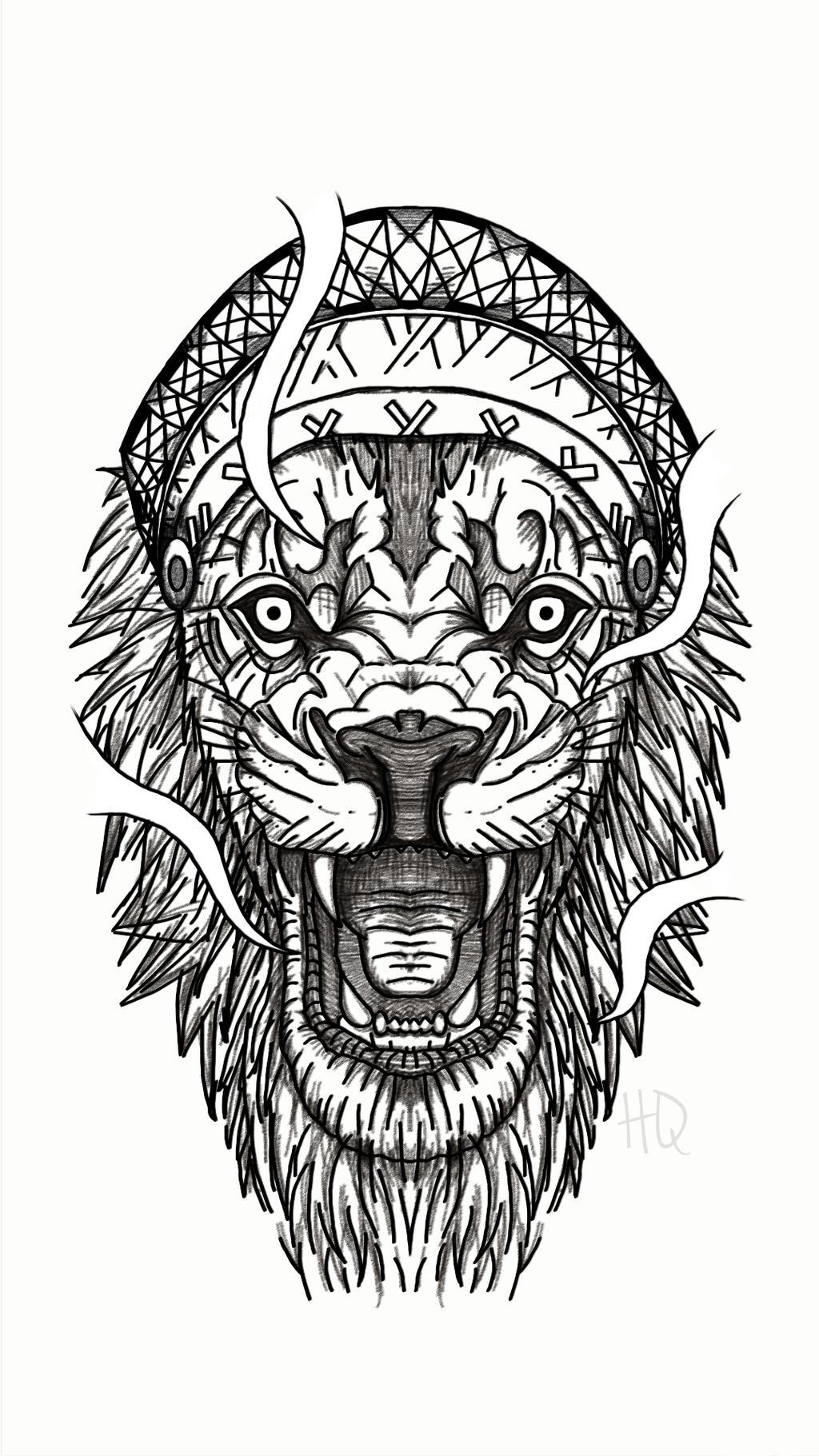 Lion Head Tattoo By H1ghqu4l1ty On Deviantart