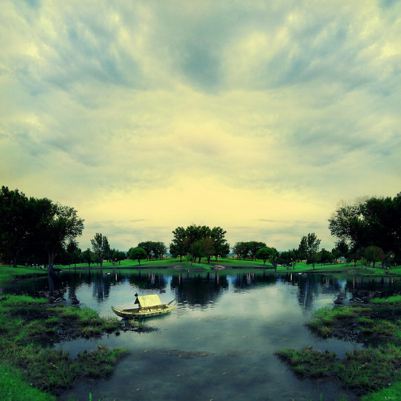 Landscape 00011  -  Lakeside by Toomi5