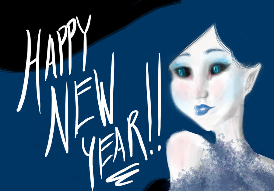 Happy New Year Sketch Fairy by Dream-Piper ... - happy_new_year_sketch_fairy_by_renkel76-d4kwtka