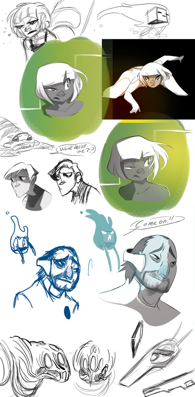 BN Sketchdump: Style Practice by Dream-Piper
