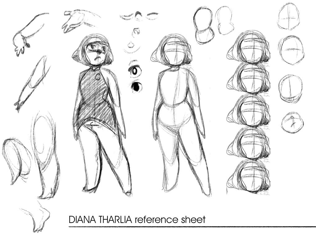 Diana Tharlia Reference Sheet by Dream-Piper